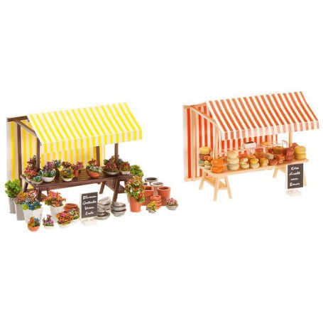 Stand Fleurs et Fromages - HO - 1:87