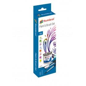 Enamel Paint and Brush Creative Set Email / Enamel Humbrol